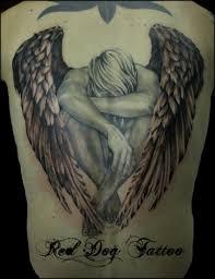 sad angel tattoomagz