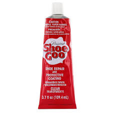 Sho Clear shoe goo repair adhesive for fixing worn shoes or boots