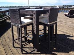 Patio Tall Table And Chairs Patio Patio High Top Table Outdoor Patio Bar Table Bar Height