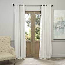 White Curtain Panel Exclusive Fabrics White Grommet Velvet Blackout Curtain Panel
