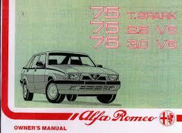 alfa 75 owners manual pdf