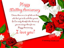 wedding anniversary wedding anniversary messages for parents wordings and messages