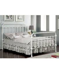 Antique White Metal Bed Frame Deal Alert Furniture Of America Norielle Metal Bed Vintage White