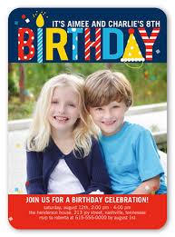 blue photo birthday invitation shutterfly