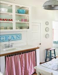 Kitchen Cabinet Curtains Curtains Under Sink But In Blue Kitchen Pinterest Open