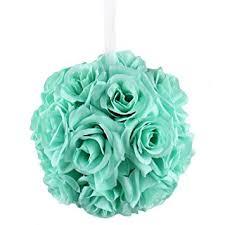 mint green flowers aerwo mint green flower artificial pomander