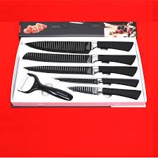 6pcs everrich kitchen knife set chef bread carving utility paring