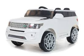electric 4x4 white range sport off roader 12v electric ride on car