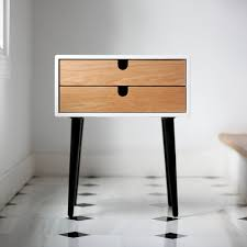 Plywood Bedside Table by White Nightstand Bedside Table Scandinavian Mid Century