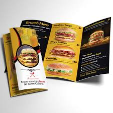 food menu trifold template free download on pngtree