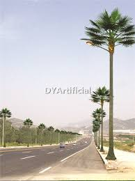 palm tree solar lights artificial coconut palm tree with solar led light dongyi