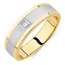 engagement ring for men men s diamond set ring in 10kt yellow white gold
