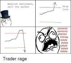 Rage Comics Meme - bearish sentiment sell the market stop loss trader rage rage