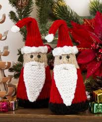 free pattern for santa gnome ornaments knits for