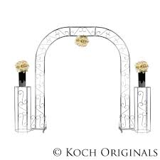 Wedding Arches Inside Arch Extended Silver Or Wrought Iron Taylor Rental Plano