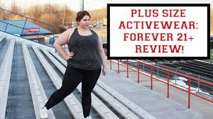 Plus Size Exercise Clothes Plus Size Activewear Forever 21 Review U0026 Lookbook Youtube