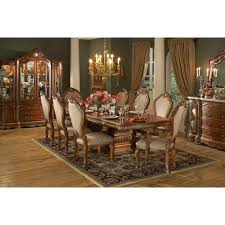aico michael amini 8pc cortina rectangular dining room table set
