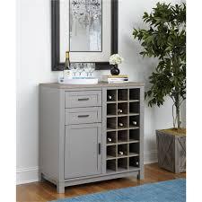 ameriwood furniture carver bar cabinet gray weathered oak