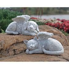 cat memorial design toscano cat memorial angel pet statue reviews wayfair