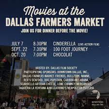complimentary friday night movie series dallas farmers market