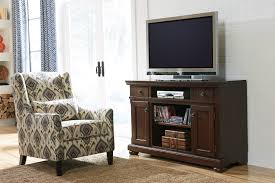 signature design by ashley porter rustic brown large tv stand with