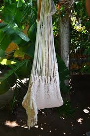 hanging hammock chair with macrame solid color swing chair mission