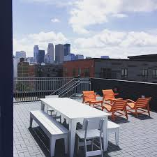 rooftop patio with loll designs modern outdoor furniture at fast