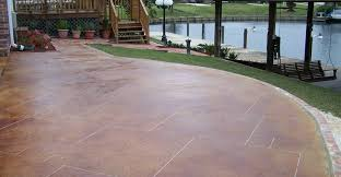 Brushed Concrete Patio Stained Concrete Patios The Concrete Network