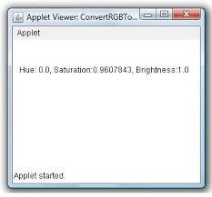 convert rgb to hsb color example java examples java program