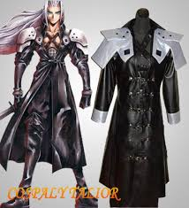 Cloud Strife Halloween Costume Final Fantasy Sephiroth Cosplay Mens Black Halloween Costume