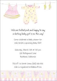 baby shower invite wording personalized baby girl shower invitations