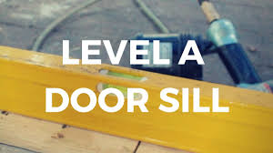 Exterior Door Threshold Replacement by How To Level A Door Sill Threshold Youtube