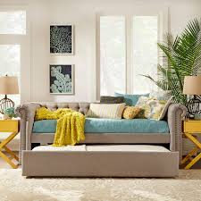 Bedroom Ideas With Brown Carpet Bedroom Belham Living Halstead Upholstered Daybed With Glass