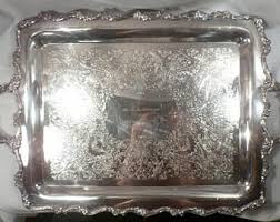 engraved silver platter webster silver tray etsy