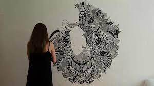 Mural Wall Art by Zentangle Inspired Mural