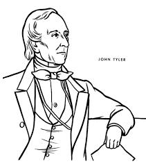 printable president john tyler coloring page coloringpagebook com