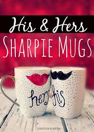 his and hers mug easy diy his sharpie mugs
