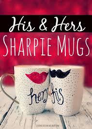 His And Her Mug Easy Diy His U0026 Her Sharpie Mugs
