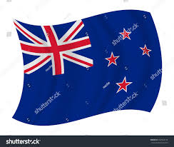 Nee Zealand Flag Design New Zealand Flag Waving Vector Stock Vector 257954174