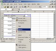 how to update pivot table ms excel 2003 how to change data source for a pivot table