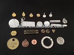 custom necklace charms logo engraved jewelry tags charms custom made metal logo charms