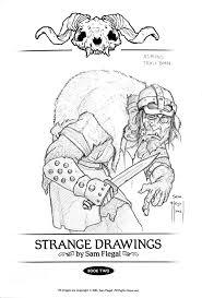 strange drawings 2 u2013 norse sketches an artist u0027s journey