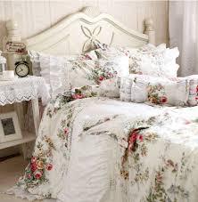 girls full bedding sets rustic ruffle lace flower single double bedding set teen twin