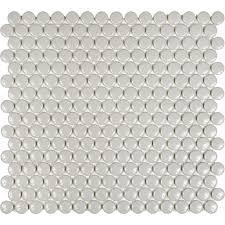 Copper Penny Tile Backsplash - interior penny rounds tile penny tile mosaic penny round tile