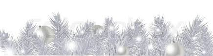 white garland silver new year garland isolated on white background vector