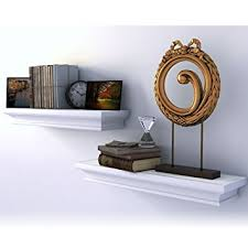 traditional small wall shelf ledge crown molding