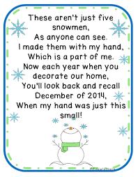 free five snowmen poem and ornament idea kindergartenklub