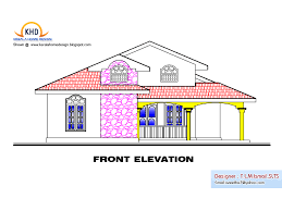 Floor Plan With Elevation by Single Floor House Plan And Elevation 1495 Sq Ft Kerala Home