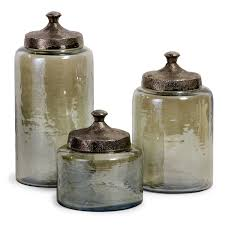 Green Kitchen Canister Set Imax Worldwide 6971 3 Luster Green Round Decorative Canisters Set
