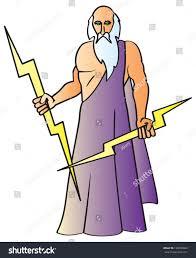 cartoon drawing greek god zeus known stock vector 128050883
